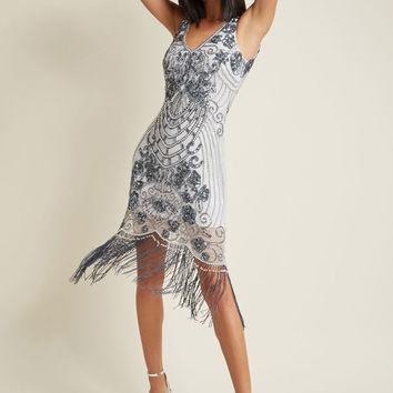 Vaudeville Vamp Beaded Sheath Dress