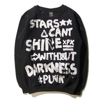 Tide brand XPX hip-hop letters round neck lovers coat autumn and winter Harajuku wind men and women sweater