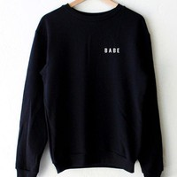Babe Oversized Pullover Sweater