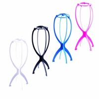Folding Plastic Stable Durable Wig Stand 1Pcs/lot