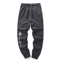 Champion high quality with anti-theft buckle cotton terry trousers Grey