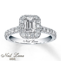Neil Lane Bridal 1 3/8 ct tw Diamond Ring 14K White Gold