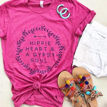 Hippie Heart and a Gypsy soul tee