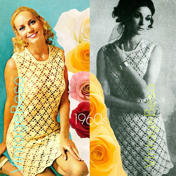 Crochet Pattern Vintage - 1960s Shell Dress - Retro Crochet Pattern - Instant Download Vintage Beso PDF
