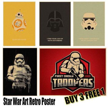 MDIGMS9 Star Wars Art Poster Vintage Retro Wall Sticker Home Decor