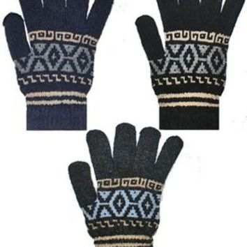 Men's Winter Knit Gloves - CASE OF 144
