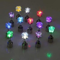 6 Pair 6 - color Light Up Led Earrings New