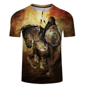 1fa6300b Native Indian Warrior Tribe All-Over-Print T-Shirt - Ladies Tops