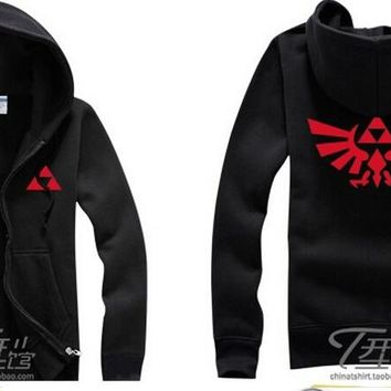 TRIFORCE WINGS Hoodie Black Sweat Shirt The Legend of Zelda cosplay costume link princess coat jacket