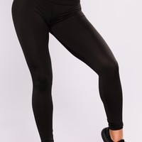 Christin Foldover Yoga Leggings - Black