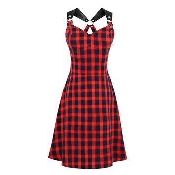 Red & Black Flannel Dress