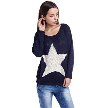 Navy blue jumper with star