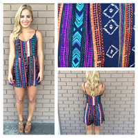 Multi-Color Chetney Romper