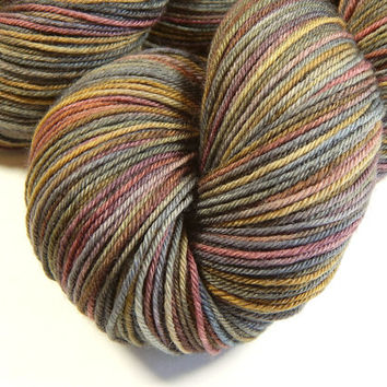 Hand Dyed Yarn - Sock Weight 4 Ply Superwash Merino Wool Yarn - Agate - Knitting Yarn, Sock Yarn, Wool Yarn, Earthtones