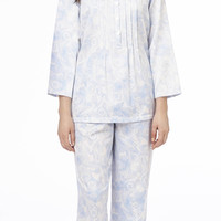 Carole Hochman Brush Back Satin Tunic Pajama