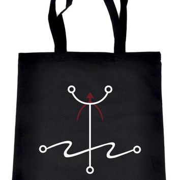Mark of the Atheist Alchemy Symbol Tote Bag Humanist Freethinker Alternative Clothing Book Bag