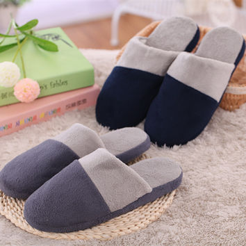 Home Winter Cotton Stylish Soft Slippers [8102202817]