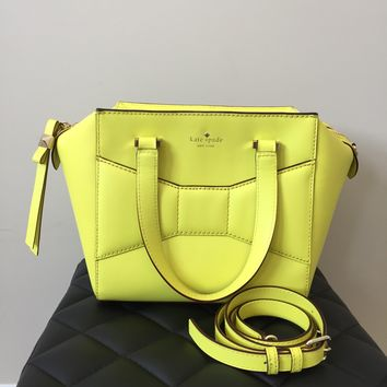 Kate Spade Yellow Beau Shoulder/Crossbody Bag