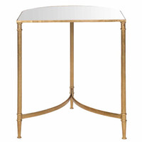 Walmart: Safavieh Nevin Accent Table, Gold/Mirror Top