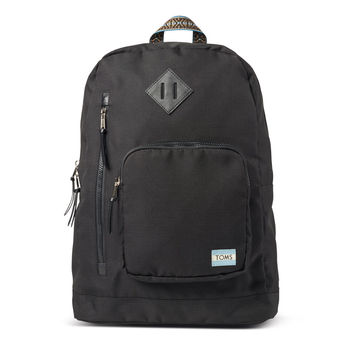 BLACK SOLID RIPSTOP HIGH ROAD BACKPACK