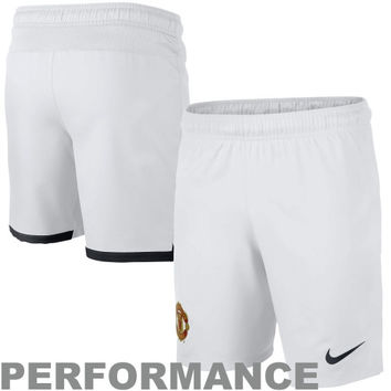 Nike Manchester United FC Youth 2013 Home Replica Shorts - White - http://www.shareasale.com/m-pr.cfm?merchantID=7124&userID=1042934&productID=520898756 / Manchester United FC