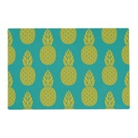 Tropical Hawaiian Pineapple Pattern Placemat
