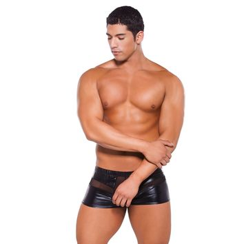 Allure Lingerie AL-33-5602Z Men's Wet Look Peek a Boo Shorts