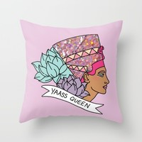 Yas Queen Eyptian Broad City Print Throw Pillow by BigKidult | Society6