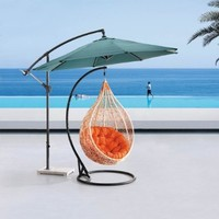 Comfortable Egg-shaped Rattan Outdoor Euro Swing Chair- BP719-WR