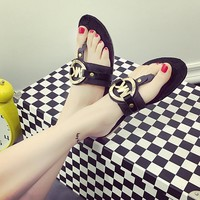 Shoes Korean Flat Stylish Slippers [11884976211]
