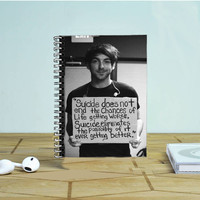 All Time Low Alex Gaskarth Photo Notebook Auroid