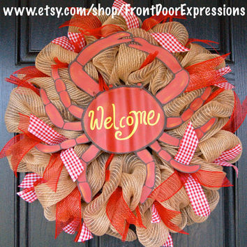 Feeling Crabby Wreath by FrontDoorExpressions on Etsy