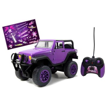 GirlMazing Purple Jeep Wrangler RC Car