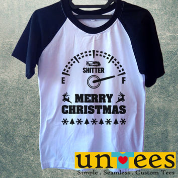 Merry Christmas Short Raglan Sleeves T-shirt
