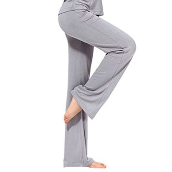 Pro Women yoga Long Pants Sport Fitness Gym Running Loose trousers