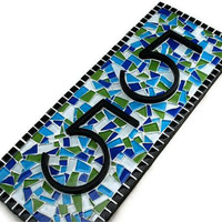 Mosaic House Numbers Made to Order