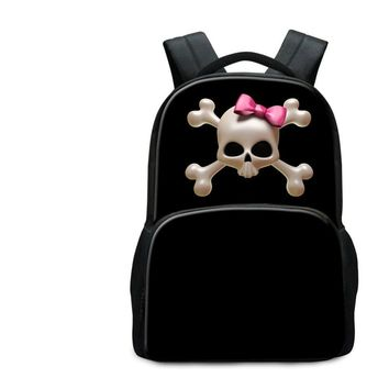 Classic Multipurpose High End Laptop Backpack Skull Logo