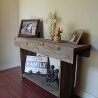 Reclaimed Wood Furniture. TV Stand. 36 In. Long and 2 ft tall. Eco Furniture. Country Home Decorations. Storage Table. Console Table