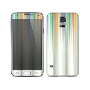 The Faded Pastel Color-Stripes Skin For the Samsung Galaxy S5