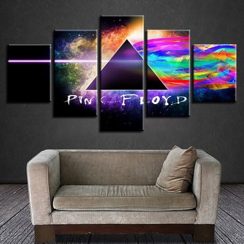 Pink Floyd Rock Roll Music Wall Art Color 5 Panel Pieces Picture Print