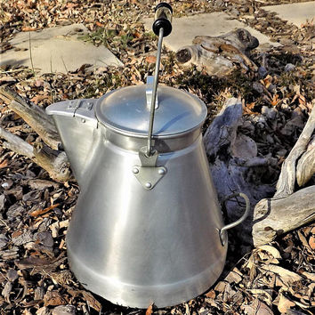 Wear-Ever Aluminum Coffee Pot, 11 Quart, Large Camp Pot, #4711, Made in USA, Vintage Kitchen