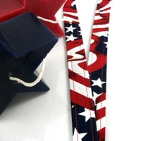 Patriotic Fabric Lanyard for Badges
