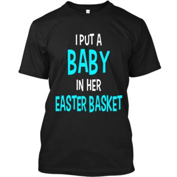 Funny Pregnancy Announcement Dad Easter Baby Announcement Custom Ultra Cotton