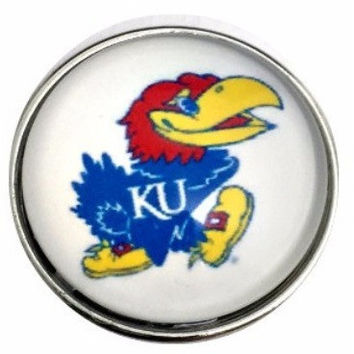Jay Hawks Snap Charm 20mm for Snap Jewelry