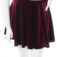 Plus Size Designer Velvet Wine Skirt, Plus Size Clothing, Club Wear, Dresses, Tops, Sexy Trendy Plus Size Women Clothes