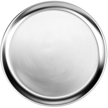 """Thunder Group 16"""" Wide Rim Aluminum Pizza Trays Pack of 12"""