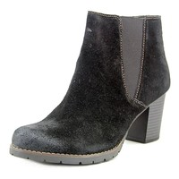 Clarks Pause Camelia Women Round Toe Suede Black Ankle Boot | Overstock.com Shopping - The Best Deals on Boots