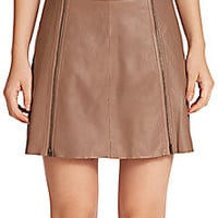 Joie - Loula Leather Zip Skirt - Saks Fifth Avenue Mobile