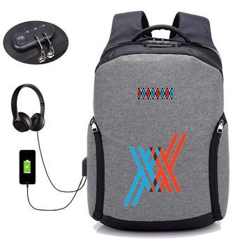 Anime Backpack School kawaii cute DARLING in the FRANXX backpack USB charging Backpack student book bag School Bag Mochila men travelling package AT_60_4