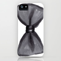 Black Bow iPhone & iPod Case by Social Proper